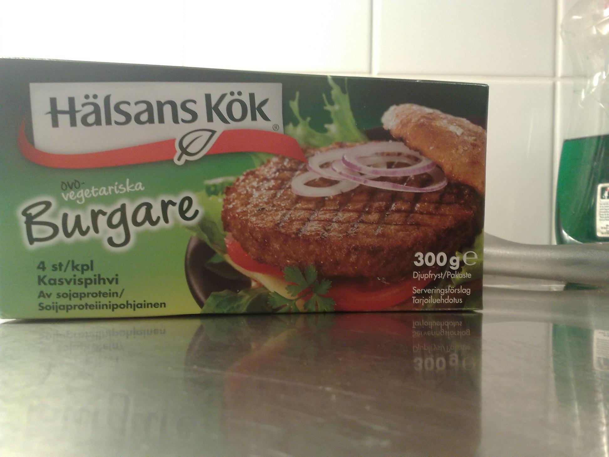 hälsans kök vegansk burgare