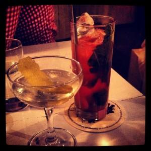 Navy Strength Martini och något alkoholfritt