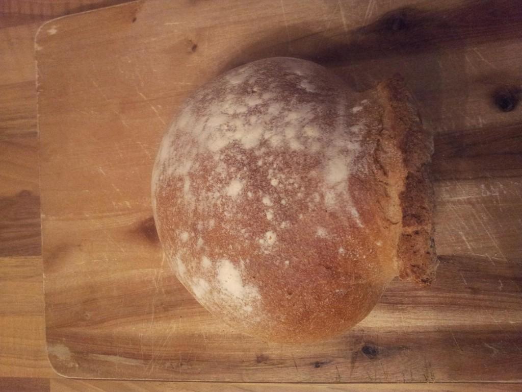 Ett vackert orponformat tyskt bröd